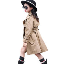 Весенняя детская одежда верхняя для девочек двубортное пальто