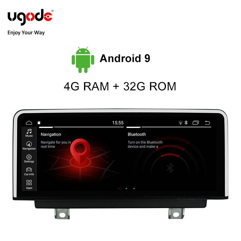 Ugode For BMW 3 Series Car Multimedia Player Android 9.0 Plastic Metal 10.25 Inches Screen Monitor 2018