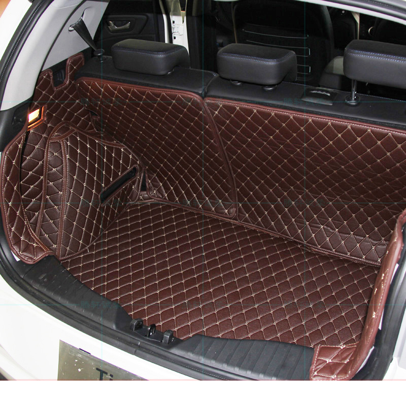 Lsrtw2017 Leather Car Trunk Mat Cargo liner for SsangYong Tivoli XLV LUVi 2015 2016 2017 2018 2019 2020 cover accessories carpet|  - title=