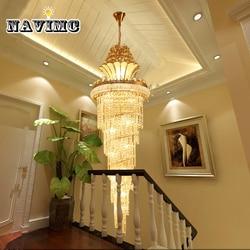 Duże złote Imperial kryształowy żyrandol do sali hotelowej salon schody lampa wisząca europejskie duże oświetlenie