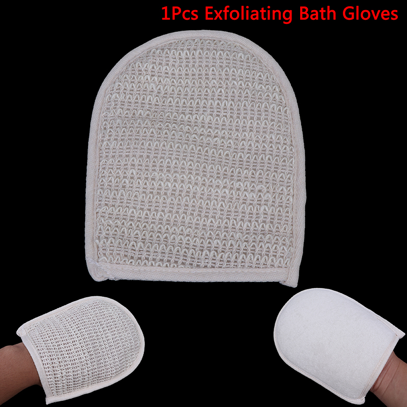 1 Pcs Sisal Bath Glove Bath Remove Bath Exfoliating Gloves Bath Body Scrubber New