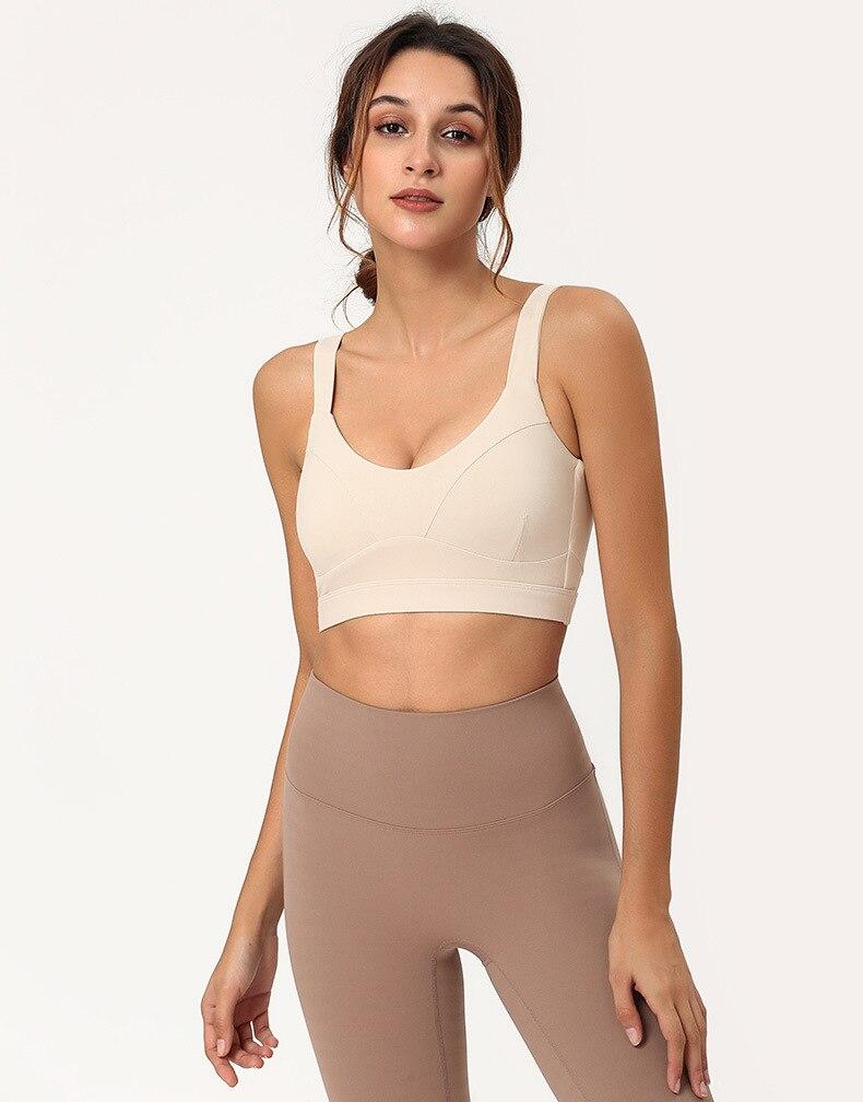 good quality yoga fitness training sport bra permium fabric with pad sports clothing