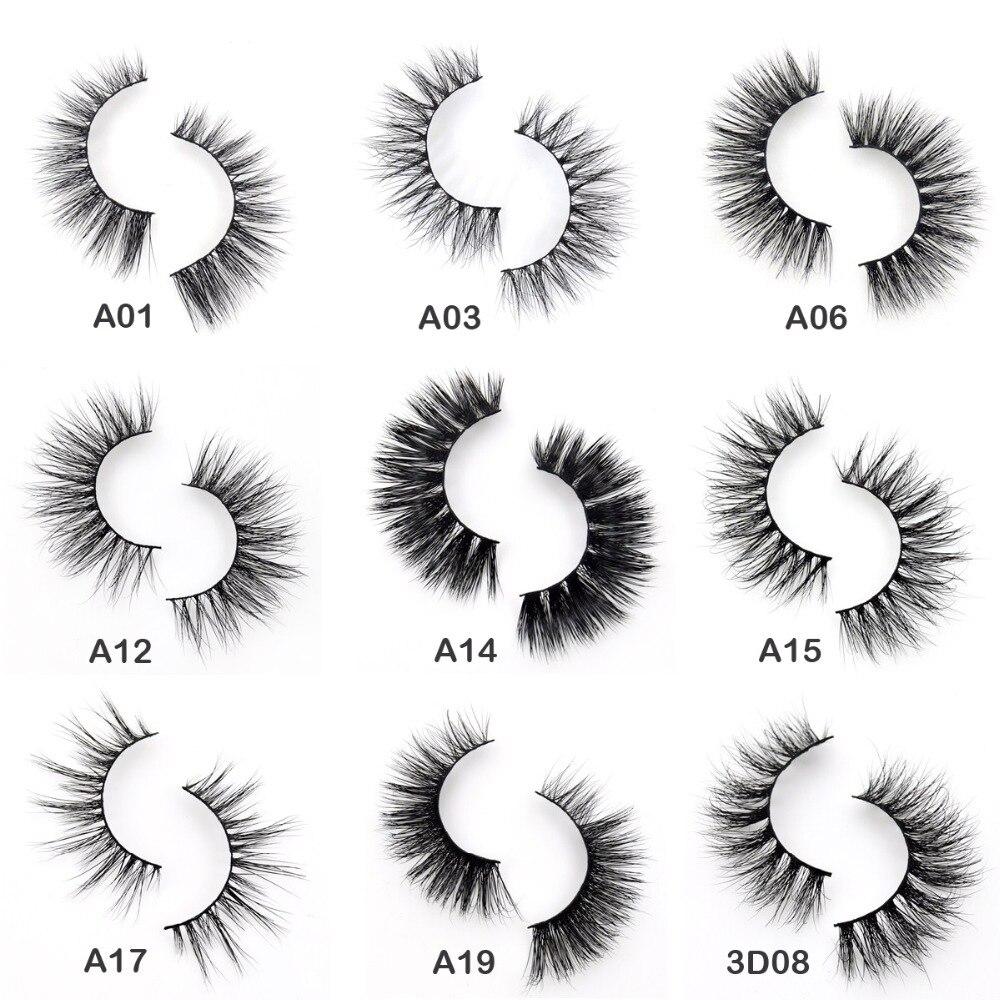Visofree Eyelashes 3D Mink Eyelashes Crossing Mink Lashes Hand Made Full Strip Eye Lashes 34 Styles Cilios Naturais False Lashes