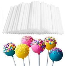 50/100Pcs/set Disposal Lollipop Sticks for Candy Pops Non-Toxic Food Grade Plastic Sucker Tubes Sticks for Chocolate Cake Tool