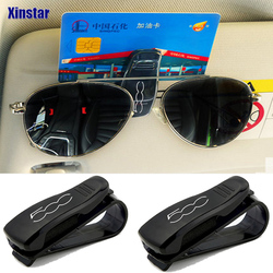 plastic car glass clip car storage sunshade sticker for fiat 500 500L 500X