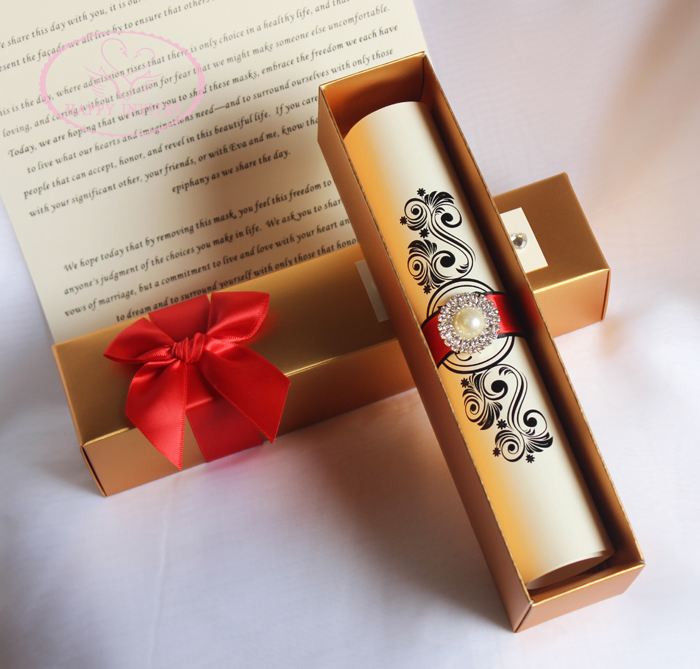 Image result for scroll wedding invitation