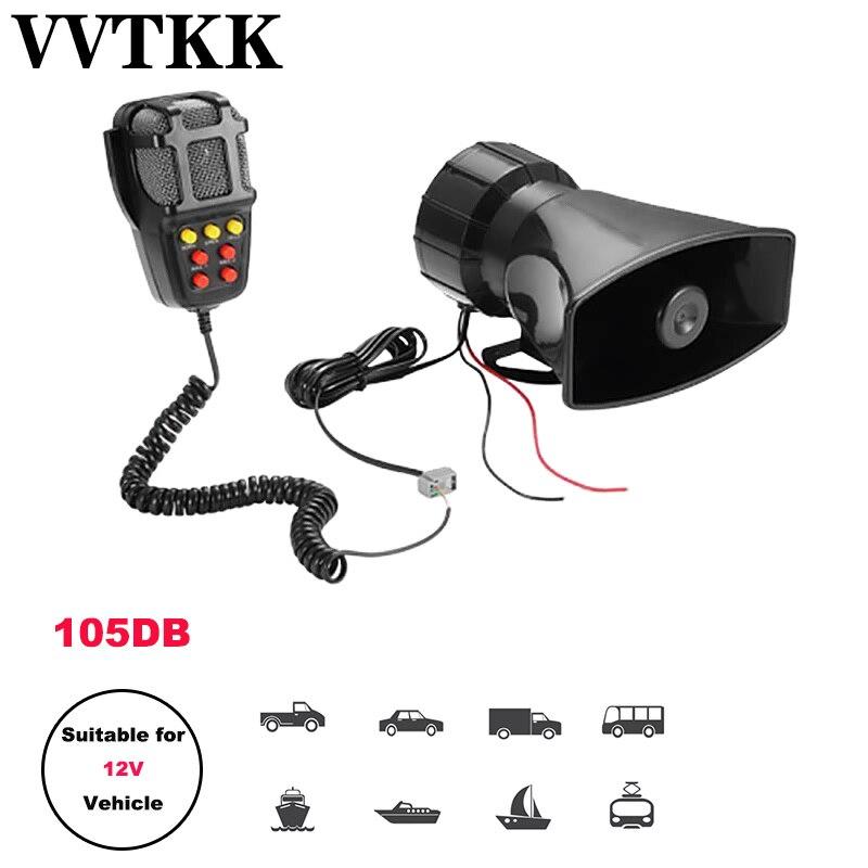 2019 novo tom som sirene de emergência do carro sirene buzina mic pa sistema alto-falante amplificador de emergência hooter 12 v 100 w
