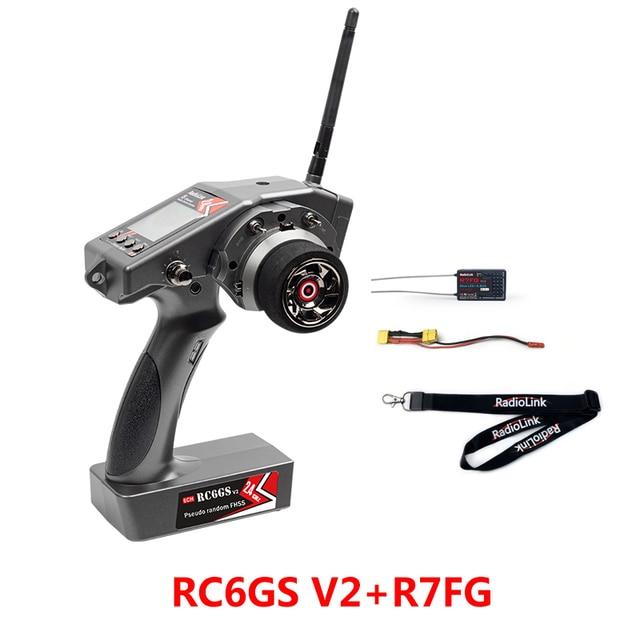 Émetteur de contrôleur RadioLink RC6GS V2 2.4G 6CH avec récepteur gyroscopique R7FG pour voiture RC bateau jouets émetteur Radio à distance