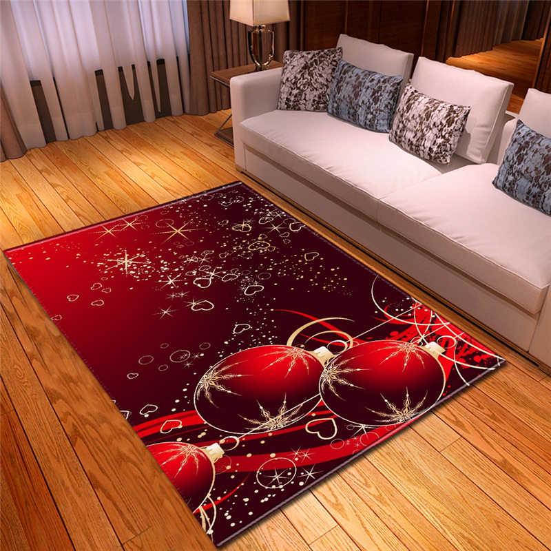 クリスマスホーム装飾ブライト色無臭スリップ耐薄型軽量ソフトフランネル洗えるリビングルームのカーペット