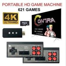Y2 4K USB אלחוטי כף יד טלוויזיה וידאו משחק קונסולת לבנות 621 קלאסי משחק 8 ביט מיני וידאו קונסולה תמיכת AV/HDMI פלט
