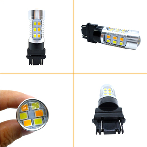 Image 4 - 2X3157 3757 Amber/Wit Dual Color Switchback Led Car Auto Parking Richtingaanwijzer Remlicht Staart reverse Lamp T25 12V 24V