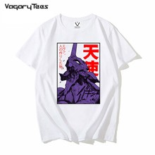 Divertido Japón Anime Eva 01 Evangelion T camisa de los hombres Manga Unisex Streetwear camiseta pantalón corto Casual Manga Camiseta Hombre