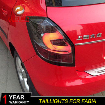 Car Styling Tail Lamp case for Skoda Fabia taillights Fabia taillight 2008-2014  Tail Lights LED Tail Light Rear Lamp LED DRL