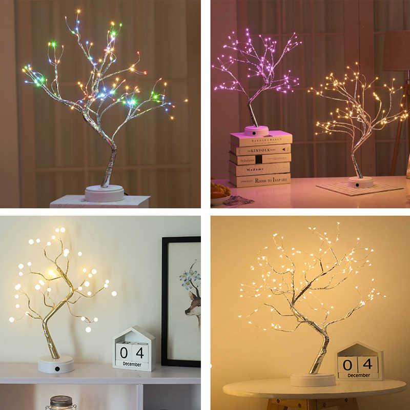 Guirnalda de luces LED para bonsái, 36/108 Leds, alambre de cobre,  Gypsophila, luces para fiesta en casa, decoración de boda, Navidad, luz  nocturna| | - AliExpress