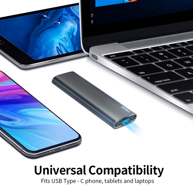 Netac External SSD 500GB 250GB Portable SSD 1TB 2TB SSD External Hard drive USB 3.2 Type C External Solid State Drive For Laptop 3