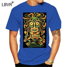 Idol Mens T Shirt Glow Uv Blacklight Neon Psychedelic Art Festival di Goa Trance Gioventù T Shirt Freddo cappotto di Moda vestiti top(China)