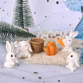1 Set resina epoxi relleno decoración Mini conejo de bricolaje artesanía con...