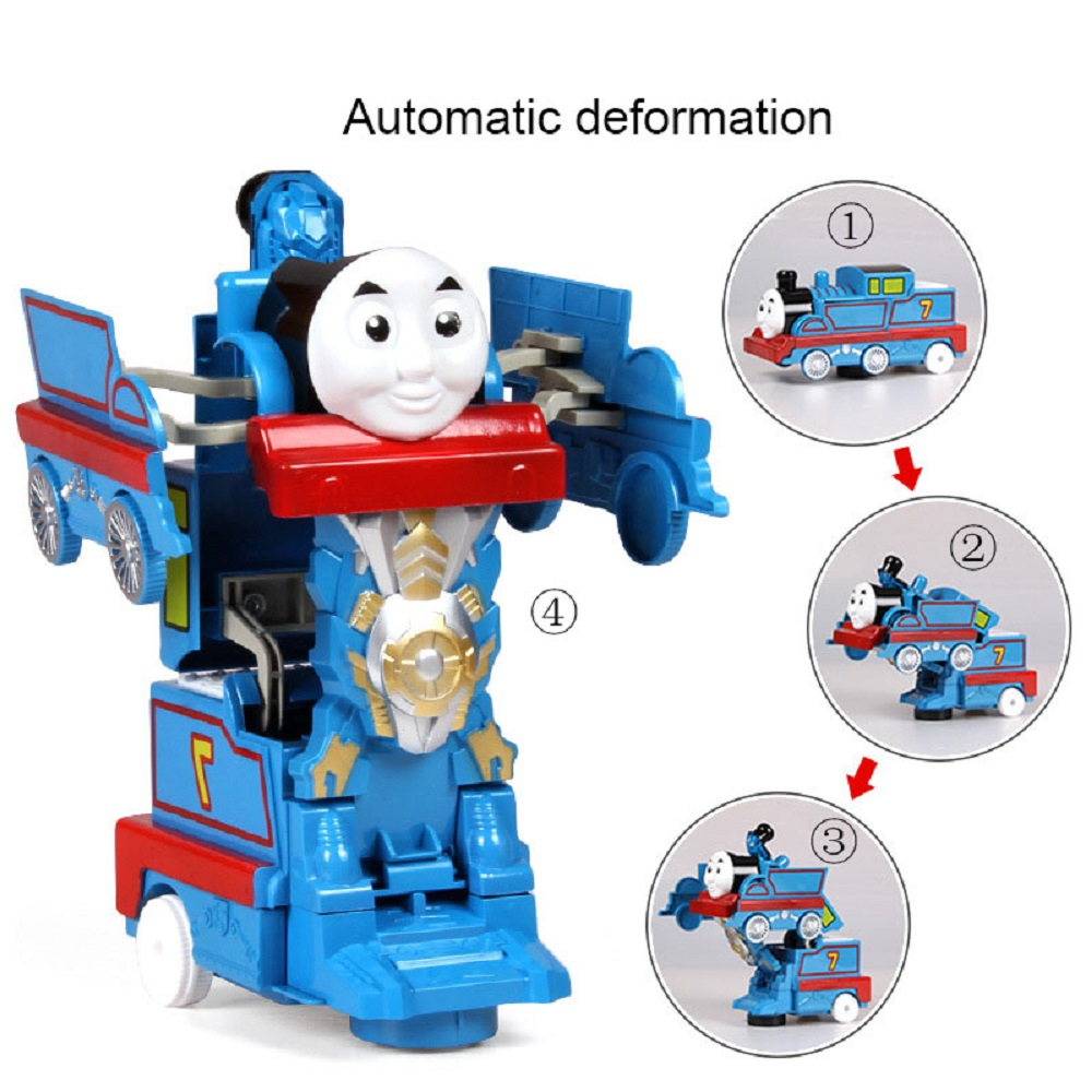 Simulation Model Electric Shape-shifting Toy Train Music Baby Glowing Gift LEGAO THOMAS