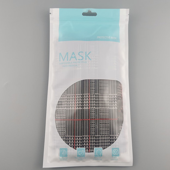 50pcs Mascarillas Disposable Adult Protective Mask 3 Layers Dustproof Protective Cover Masks Plaid Printing Fashion Face Mask 10