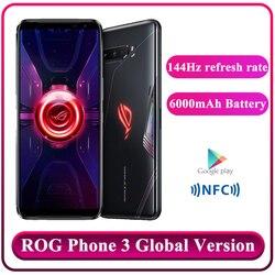 Оригинальная глобальная версия ASUS ROG Phone 3 ZS661KS 5G Смартфон Snapdragon 865/865Plus NFC Android Q OTA обновленный игровой телефон ROG3