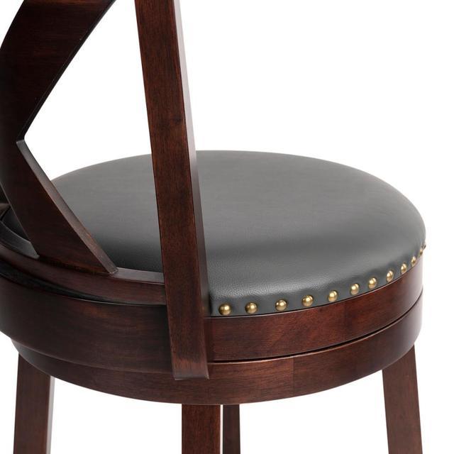 Swivel Counter Height Stool w/ Backrest 5