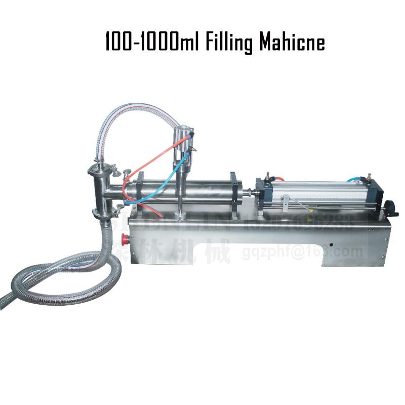 SHENLIN 1000ML دستگاه پر کننده سس شربت سس شربت نوشیدنی شیمیایی دستگاه پر کننده پنوماتیک نیمه اتوماتیک پرکننده پنوماتیک