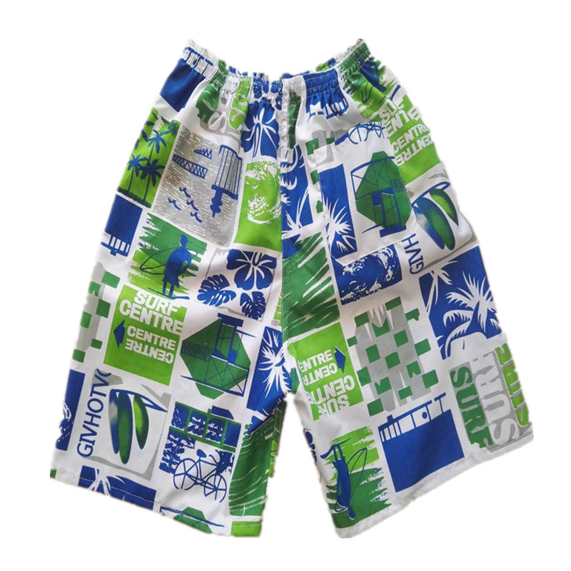 MEN'S Beach Pants Short Printed Quick-Dry Soft Breathable Drifting Surf Beach Stall Household