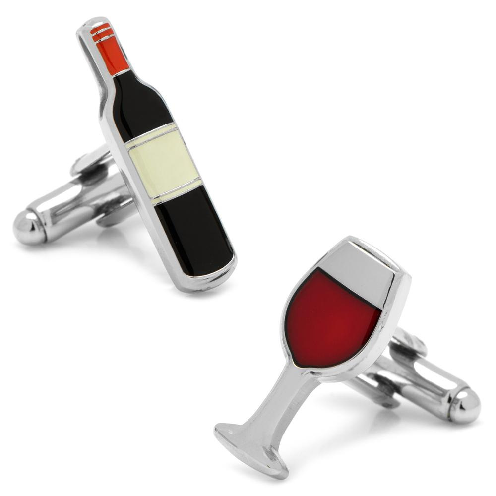 Drinking Glasses Design Red Wine & Goblet Cufflinks For Men Quality Copper Material Black Color Cuff Links Wholesale&retail