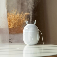 Encantador humidificador de aire de venado humidificador de aire USB ultrasónico enfriador de niebla Luz LED 3 en 1 Mini difusor de Aroma Humidificado de aceite esencial