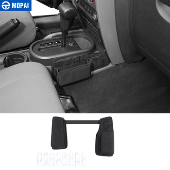 MOPAI Stowing Tidying For Jeep Wrangler JK Car Gear Shift Storage Bag 2007 2008 2009 2010 Accessories