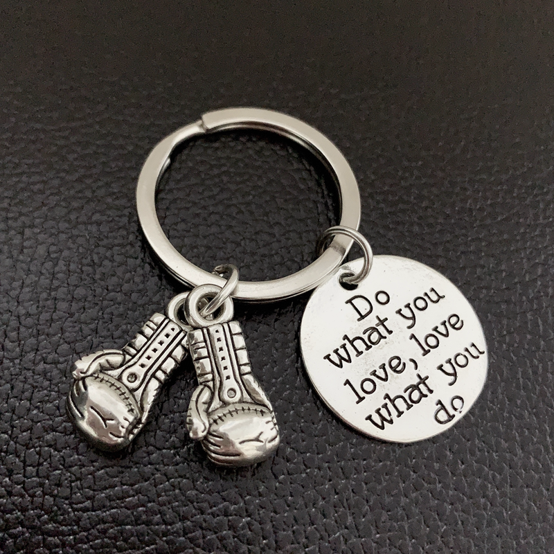 New Boxing Gloves Keychain-New Design To Do What You Love, Best Gift For Car Keychain Bag Pendant Keychain