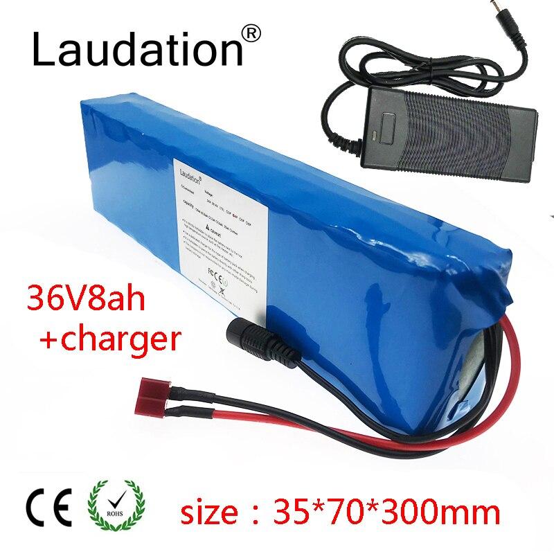 Аккумулятор laudation 36 В, 36 В, 8 А · ч, аккумулятор 18650 10S3P 500 Вт, высокая мощность и емкость, мотоцикл, скутер с BMS