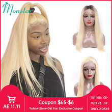 613 Blonde Lace Front Human Hair Wigs Brazilian Remy Straight 4x4 Lace Closure Wig 1B 613 Ombre 13x4 13x6 Frontal Wigs for Women