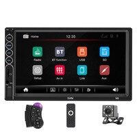 N6 2 din Car Radio 7 HD Player MP5 Touch Screen Digital Display Bluetooth Multimedia USB 2din Autoradio Car Backup Monitor