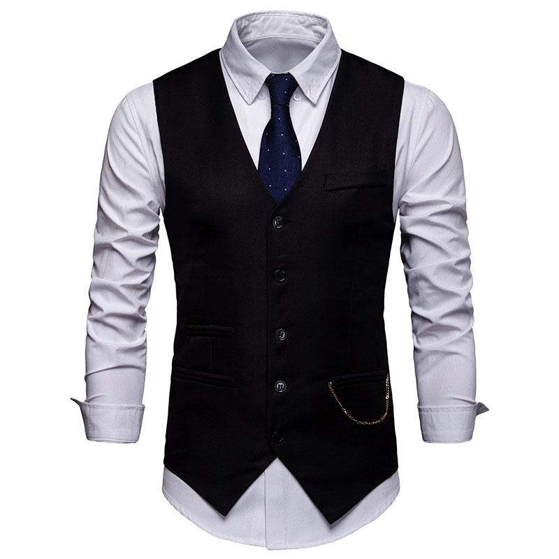 Mens Formal Business Suit Vest 2020 Spring New Slim Fit Sleeveless Male Waistcoat Wedding Classic Colete Masculino Social Blazer