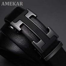 Famosa marca cinto de couro de alta qualidade cinto de couro designer de design de luxo masculino cinto de fivela de metal automático