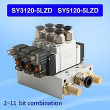 Smc тип sy sy3120 sy5120 5lzd электромагнитный комбинация клапанов
