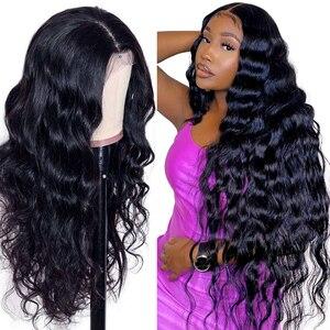 Мелоди 180 плотность объемная волна Синтетические волосы на кружеве al парики из натуральных волос на кружевной перуанских девственных волос...