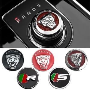 Image 1 - 1pc botão de mudança de engrenagem do carro decoração interior emblema decalque para jaguar F PACE xe xf xj xel xfl estilo do carro modificaiton adesivo