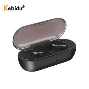 Image 2 - Kebidu W13 TWS Bluetooth Kopfhörer Touch Control Stereo Bass Drahtlose 5,0 Headset Sport Ohrhörer Mit Mic Freisprecheinrichtung Für Xiaomi