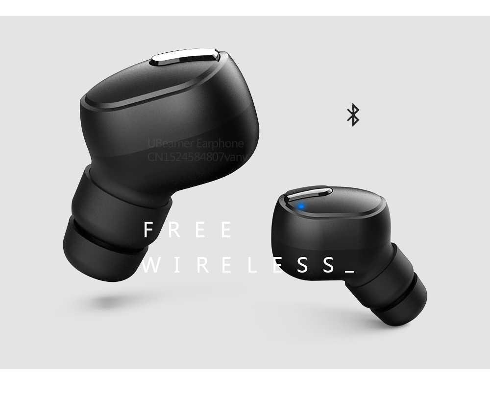 Ubeamer M9 Benar Nirkabel Headset Stereo Kebisingan Membatalkan Headphone Tahan Air Bluetooth Earphone dengan Pengisian Case Game TWS