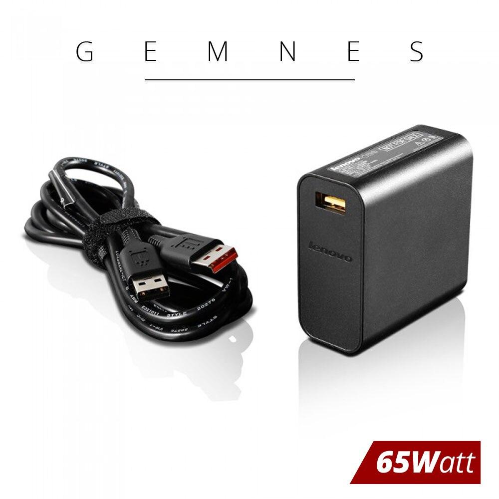 Новый оригинальный 65 Вт USB AC Зарядное устройство для lenovo Yoga 3 Pro 900 Йога 700 11 14 ноутбук адаптер переменного тока ADL65WDA 5A10J40473 20V 3.25A штепсельная ви...