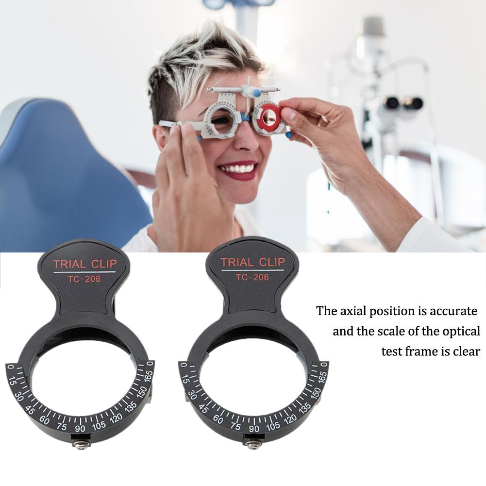 2Pcs Trial Frame Clip Lens Frames Optometry Single Eye Optical Test Frame Testing Accessories Glasses Equipment Stand #40
