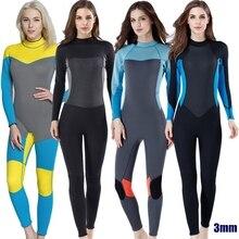 New 3 mét chất lượng Phụ Nữ Đàn Hồi Chặt Chẽ neoprene Lặn phù hợp với wetsuit màu khâu Lướt Thiết Bị Sứa quần áo dài tay