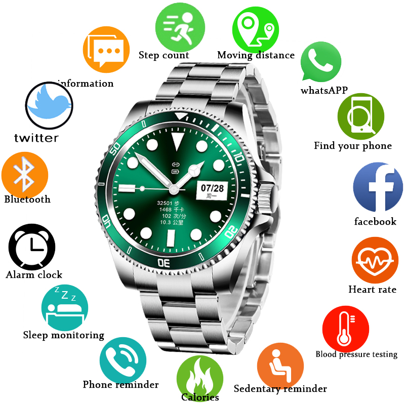 Permalink to LIGE Smart Watch Men Smartwatch LED Full Touch Screen For Android IOS Heart Rate Blood Pressure Monitor Waterproof Fitness Watch