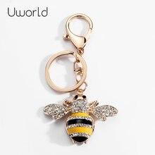 Классический брелок в виде пчелы с кристаллами женский насекомого