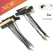 10 pces 2.4 ghz wifi antena interna 5dbi ipx ipex conector fpc omni antena ieee 802.11 b/g/n wlan sistema