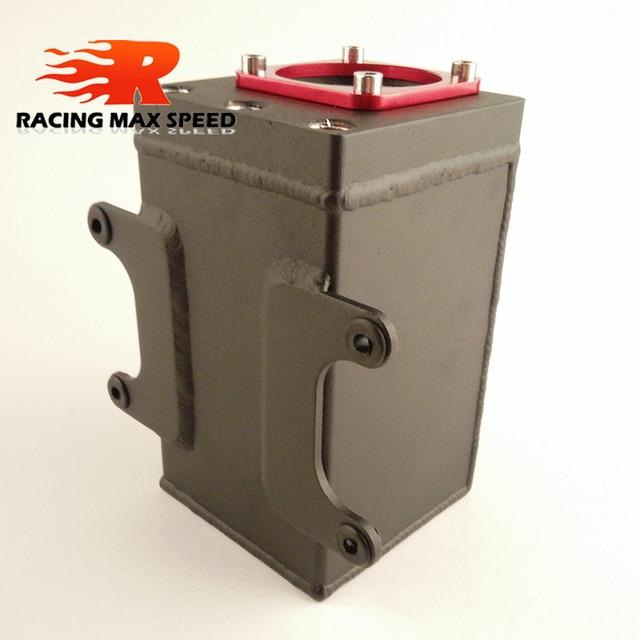 60mm Racing externe 044 pompe à carburant réservoir course noir billette Aluminium AN6 raccord huile prise peut carburant surtension réservoir Oct-1115-bk