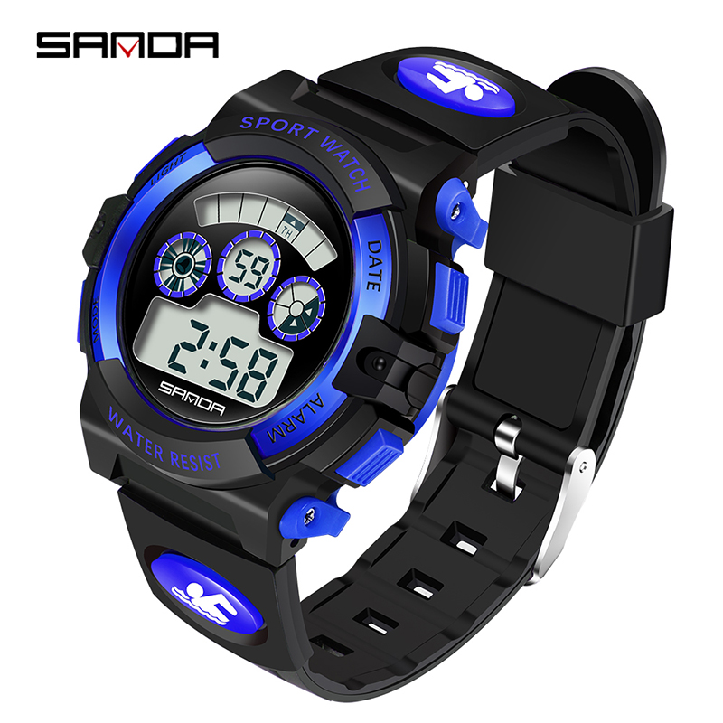 Fashion Sport Watch SANDA Brand Children Watches LED Digital Watch For Boy Girl Student Waterproof Electronics Wristwatches 357