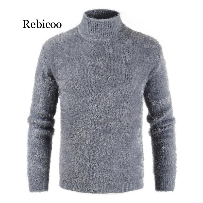 Men's Turtleneck Knitted Sweater Cashmere Wool Winter Sweater Men 2019 Turtleneck Pullover Man Swetry Pull Col Roul Homme